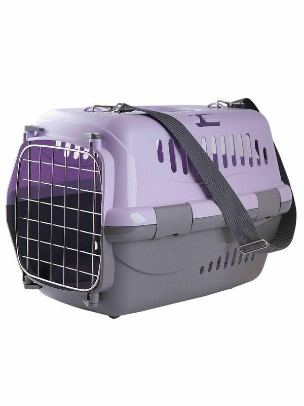 Переноска для животных с ковриком и ремнем 48*32*32 см ZOOEXPRESS (F)