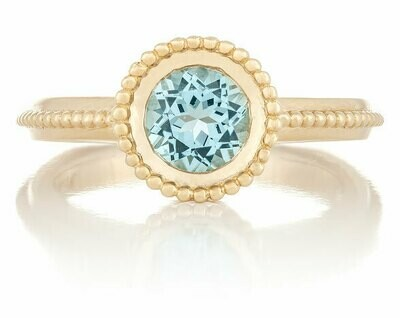 La Fontaine—Yellow Gold/Sky Blue Topaz