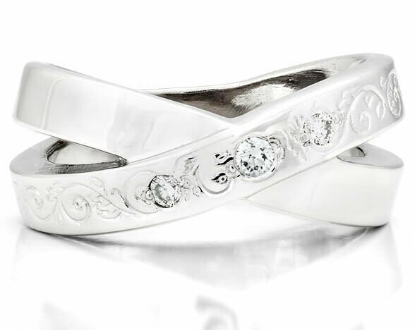 CC French Kiss Deux©—Silver/Diamond