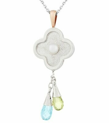 Capri—Silver with Peridot
