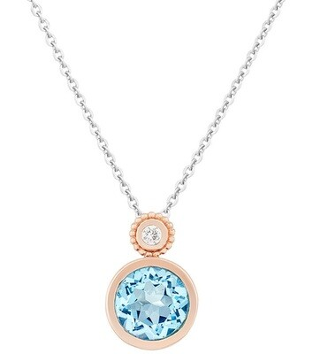 Tuileries—Rose Gold with Sky Blue Topaz