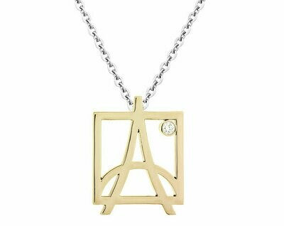 Skyline Pendant—Yellow Gold/Diamond