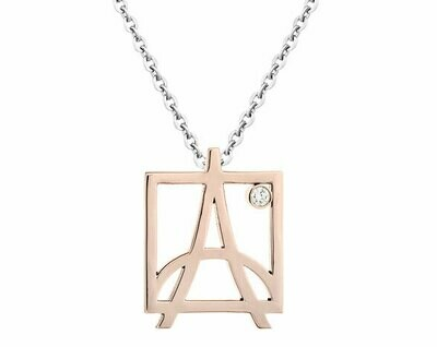 Skyline Pendant—Rose Gold/Diamond