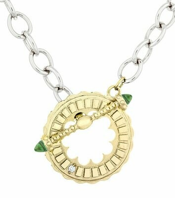 Sacré-Coeur—Yellow Gold & Peridot Bracelet/Necklace
