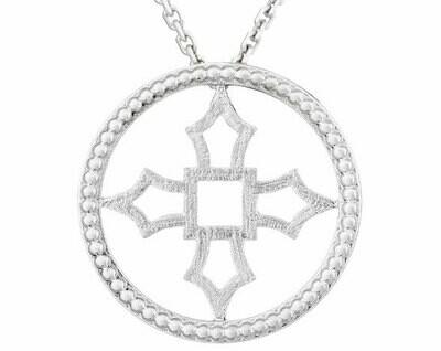 Fontana Pendant—White Gold