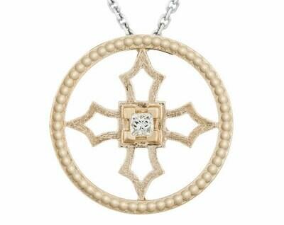 Fontana Pendant—Yellow Gold/Diamond
