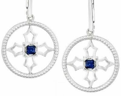 Fontana Earrings—Silver/Sapphire