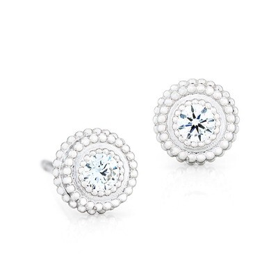 CC Petit Trésor Earrings©—White Gold w/ Diamonds