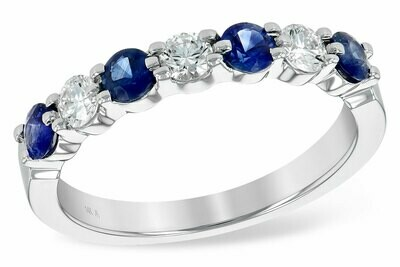 Stunning Diamond & Sapphire Ring