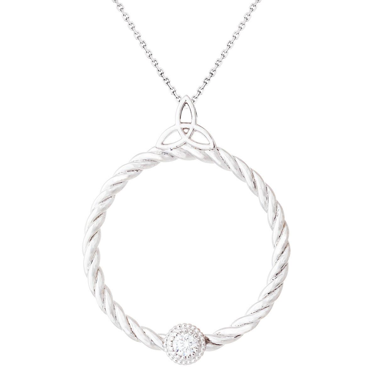 CC Celtic Braid©—Silver w/ Diamond
