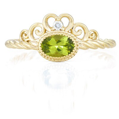 Galway Ring—Yellow Gold with Peridot
