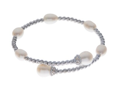Brilliance Station Cuff Pearl Bracelet.