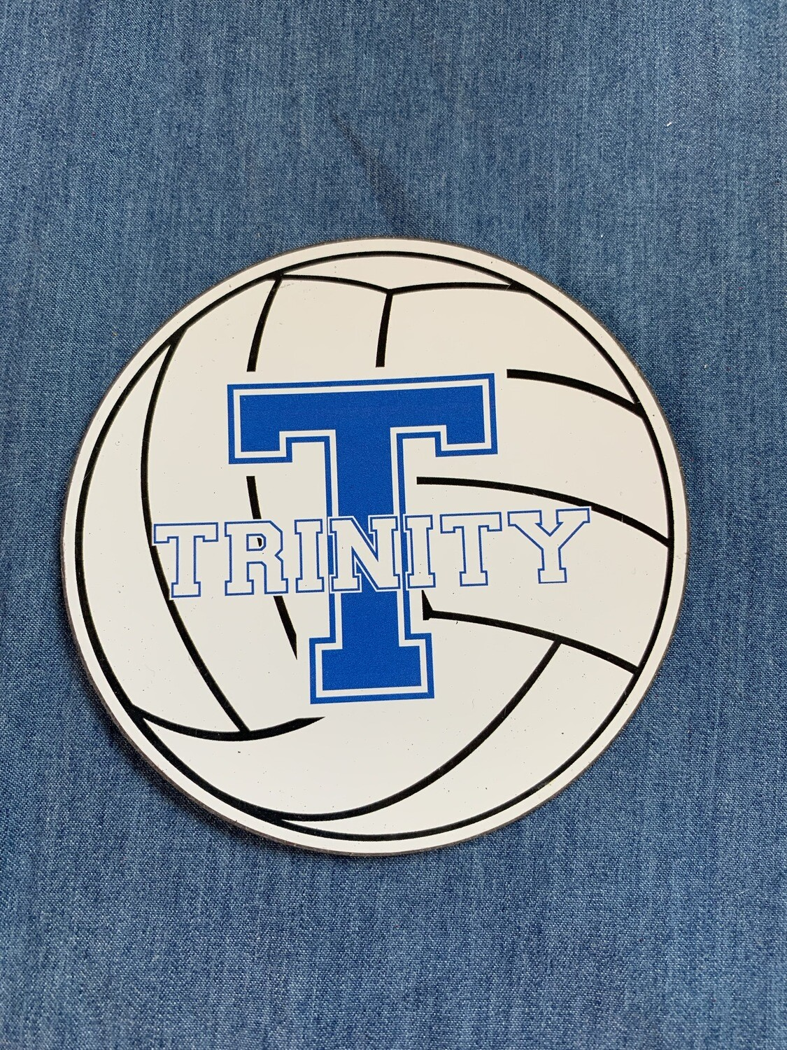 Trinity Volleyball Car Magnet