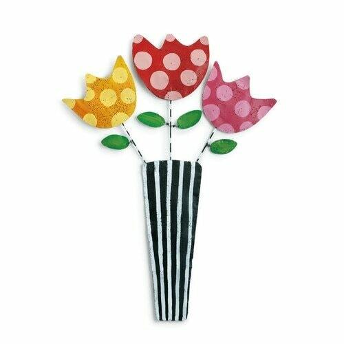 Flowers in Vase Door Hanger