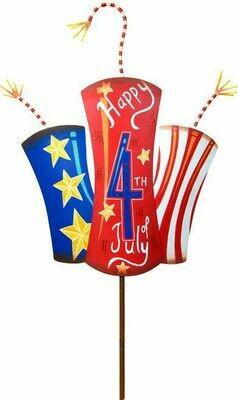 Happy 4th Firecrackers - Metal