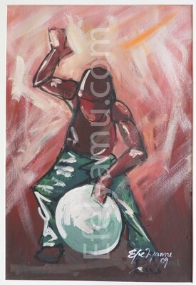 Drumer- Oil Painting on Canvas- Available in Prints