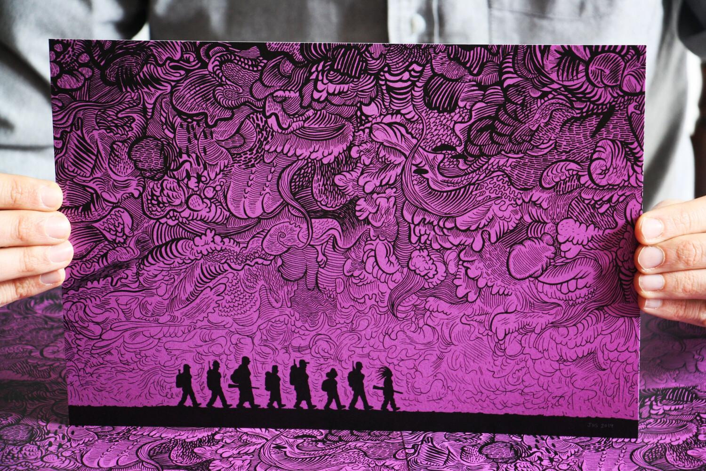 """Affiche """"Black River"""" par Josh Simmons"""