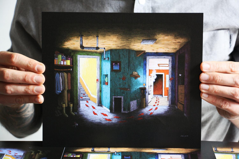 """Affiche """"Dead are Alive"""" par Josh Simmons"""