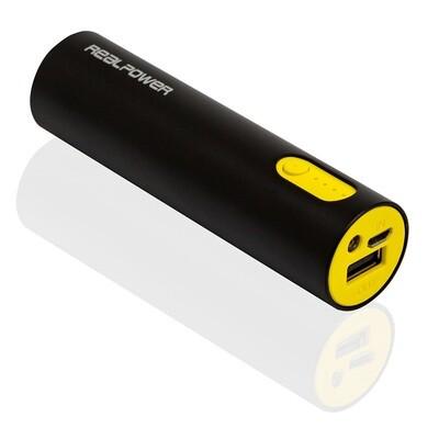 Powerbank mit LED-Taschenlampe (Mobiles Ladegerät für Smartphones)
