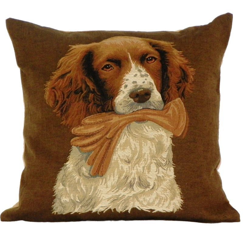 Belgian tapestry - SPANIEL WITH GLOVES