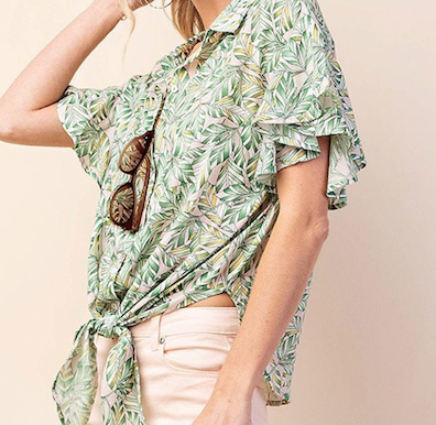 St. Lucia Front Knot Top