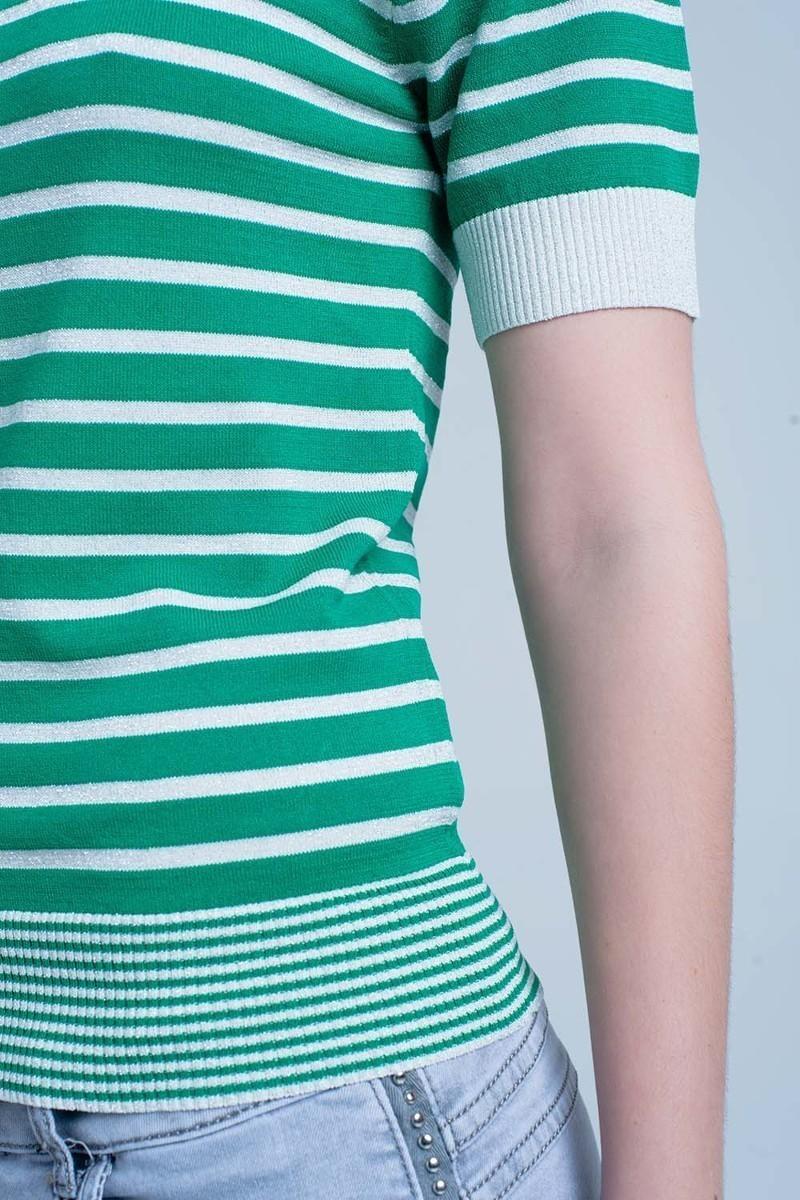 Preakness Short Sleeve Knit Top