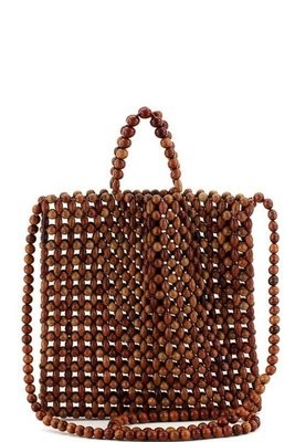 Wooden Beaded Tote