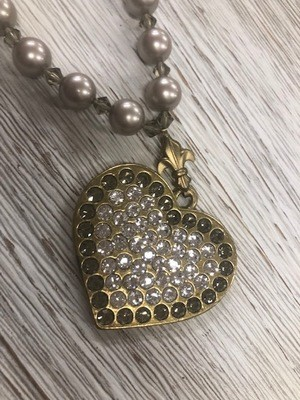Sisilia Brass Crystal Heart