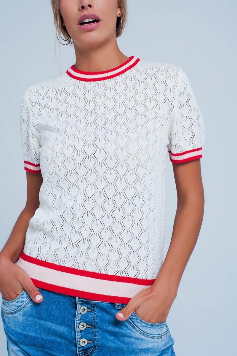 Saratoga Short Sleeve Knit Top