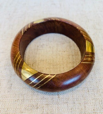 Wood Gold Inlay Bracelet