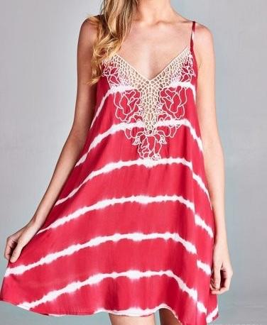 Berry Tie Dye Sun Dress
