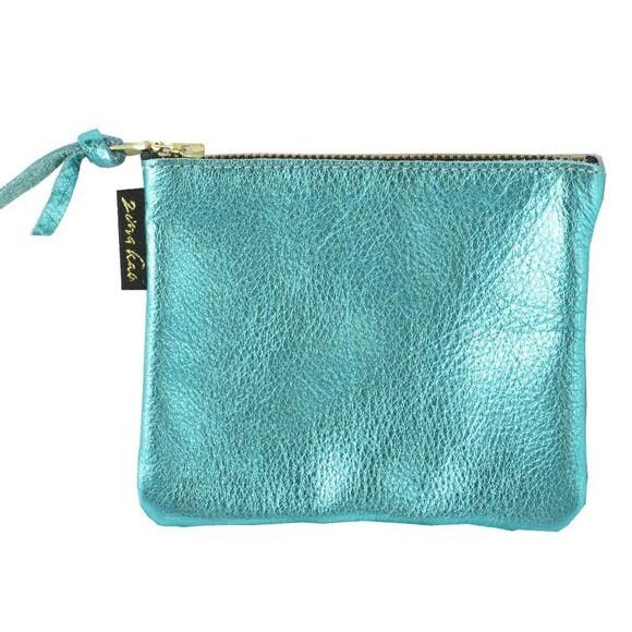 Metallic Ging Zip Pouch