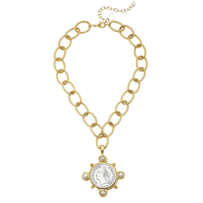 Loop Chain & Coin Necklace