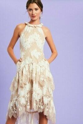 La Femme Lace Dress