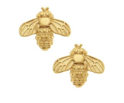 Gold Bee Stud Earrings