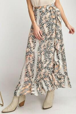 **Cremora Animal Print Skirt