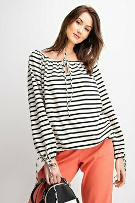 Striped Black & White Loosefit Top