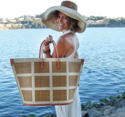 Luxury Square Straw Beach Bag