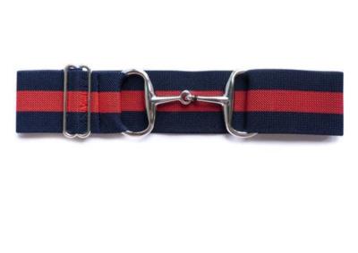 Navy & Red Snaffle Buckle Belt