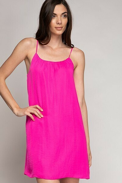 Strappy Hot Pink Colour Dress