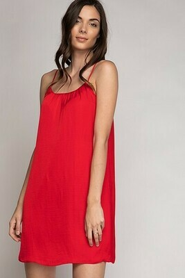 Strappy Red Colour Dress