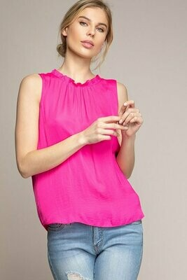 Pink Sleeveless Summer Top