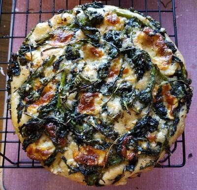 Broccoli Rabe & Mozzarella Focaccia