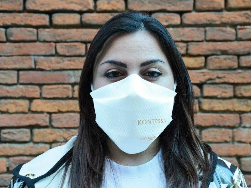 """10 MASCHERINE PROTETTIVE per uso facciale """"INTELLIGENTE"""" FFP1 CON MARCHIO KONTESSA"""
