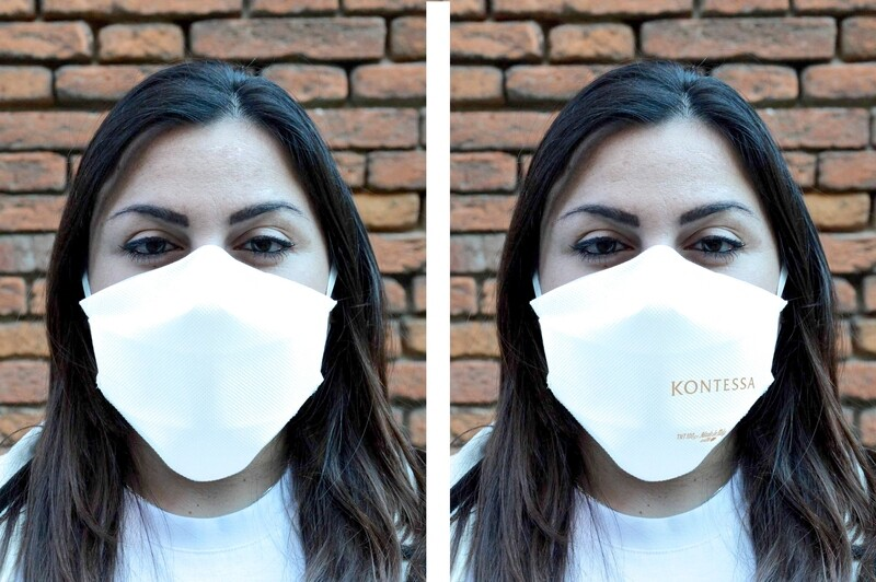 """10 MASCHERINE PROTETTIVE per uso facciale """"INTELLIGENTE"""" FFP1 MIX NEUTRE + KONTESSA"""