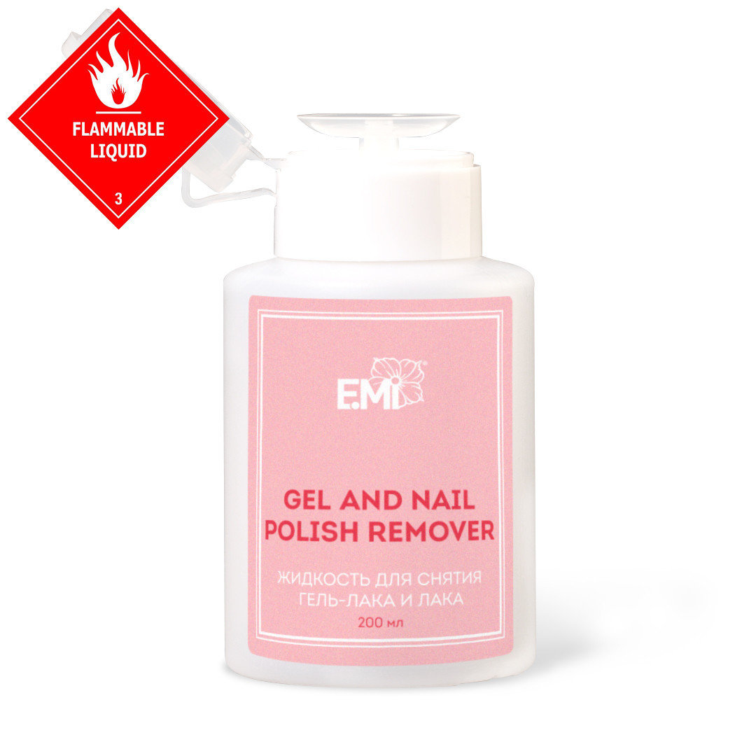 Gel and Nail Polish Remover, 200/1000 ml.