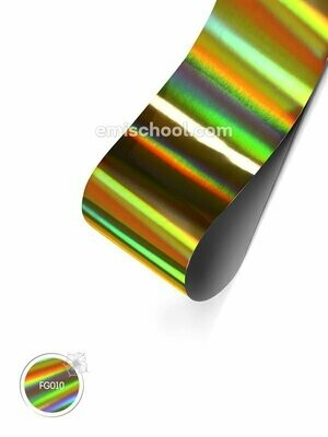 Foil holographic gold Transverse stripes, 1.5 m