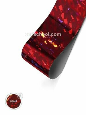 Foil holographic red Crystal, 1.5 m