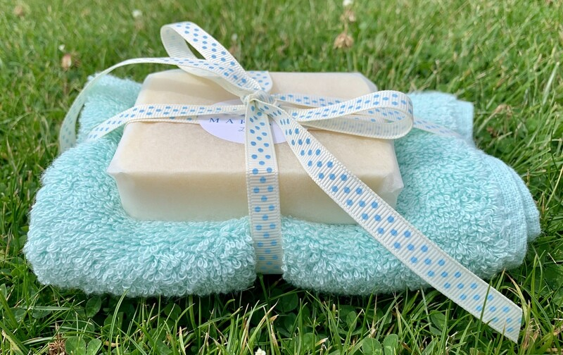 Lemongrass and Peppermint 110g Soap with Premium Bamboo Face Cloth