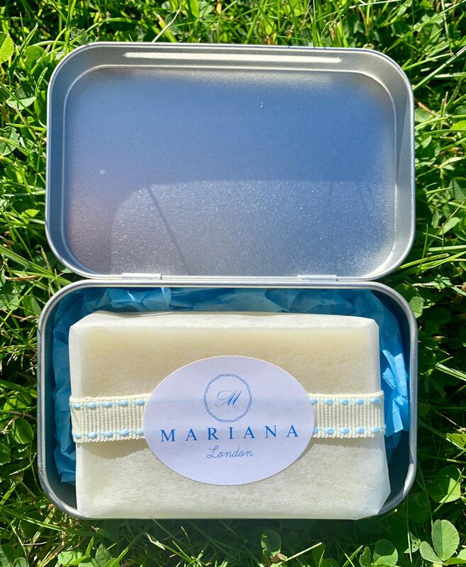 Rose Geranium and Bergamot Travel Soap Tin